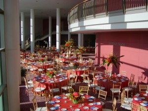 Grand Lobby set-up for a formal reception