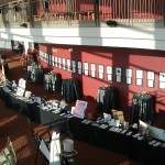 Grand Lobby set-up for a benefit with a silent auction